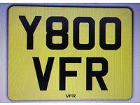 Y800 VFR - Number plate