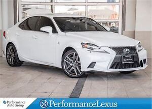 2014 Lexus IS 350 AWD 6A ONE OWNER F SPORT !!