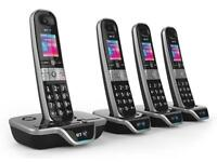 BT 8600 Premium Quad Cordless Phone Brand New