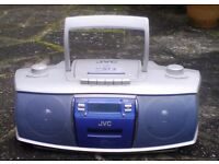 JVC, CD, RADIO, CASSETTE PLAYER WITH REMOTE