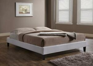 FREE Delivery in Vancouver! White or Espresso Low Profile Leather Platform Bed!
