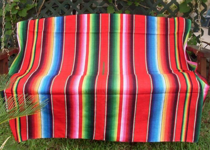 Red Sarape Serape Mexican Blanket, Saltillo Southwestern Beach Yoga 5