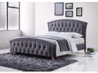 SAME DAY -- MERCI BED Double BED/ Kingsize bed Designer Bed Available 3 In Different Colors