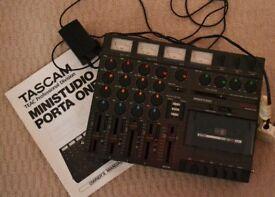 Tascam mini studio(porta one) 4 track.