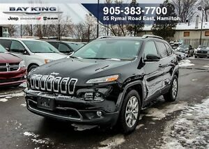 2016 Jeep Cherokee LIMITED, 4X4, NAVI, PANO SUNROOF, REMOTE STAR