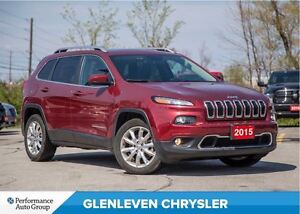 2015 Jeep Cherokee Limited | PANO ROOF | NAV | LEATHER | BLUETOO