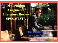 1 Page Free Dissertation/ PhD Thesis/ Essay/ Assignment/ Proposal/ SPSS/ Statistical Analysis Help