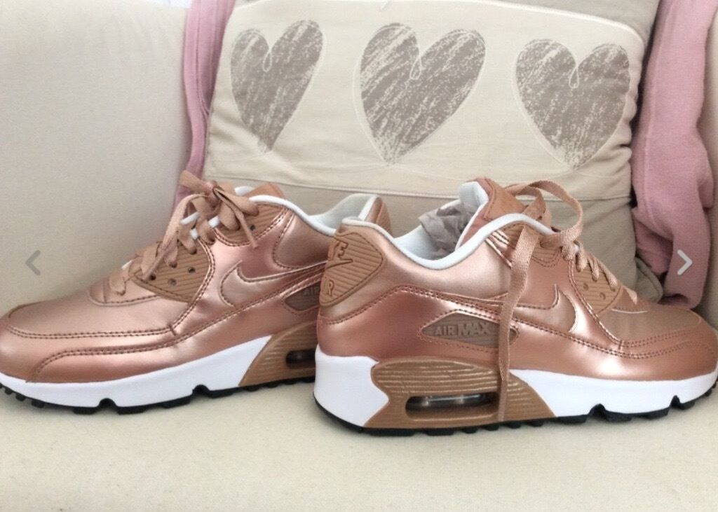 womens nike rose gold air max 90 uk 4 in guildford. Black Bedroom Furniture Sets. Home Design Ideas