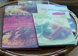 Collection of Weight watchers Essential Cookbooks.Includes Family meals,Spicey,Pasta.
