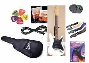 Best gift for Christmas ! Electric guitar with 3W amp, Gig bag, Strings, Cable, Picks, Strap, Capo elec guitar