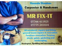 Carpenter and handyman, Available for Donington, Spalding and surrounding areas. Reasonable rates