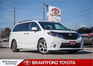 2014 Toyota Sienna SE, In White, Power Sunroof, One Owner, Safet