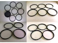 Lots of lens filters (£60 for all)
