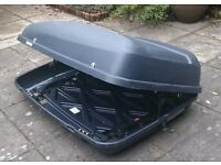 Roof box, Halfords brand, approx 400 L capacity