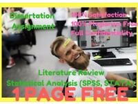 Essay/ Assignment/ Dissertation/Proposal/ PhD Thesis/ SPSS/ STATA/ Matlab Statistical Analysis help