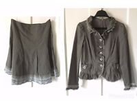 Matching Outfit Jacket And Skirt UK Size 8-10 paypal accept