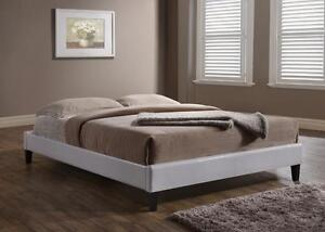 FREE Delivery in Calgary! White or Espresso Low Profile Leather Platform Bed!