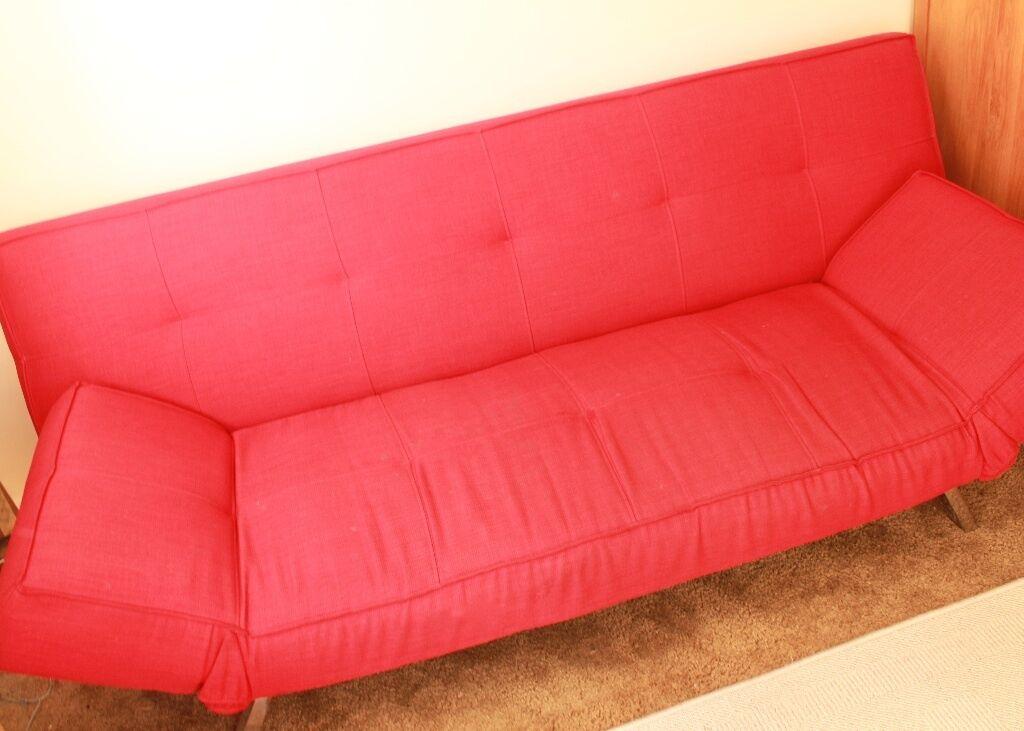 Cargo Sofa Sofa Bed Quot Salsa Red Click Clack Sofa Bed Quot In