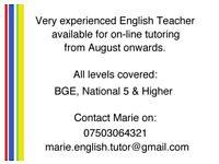 Very Experienced English Tutor