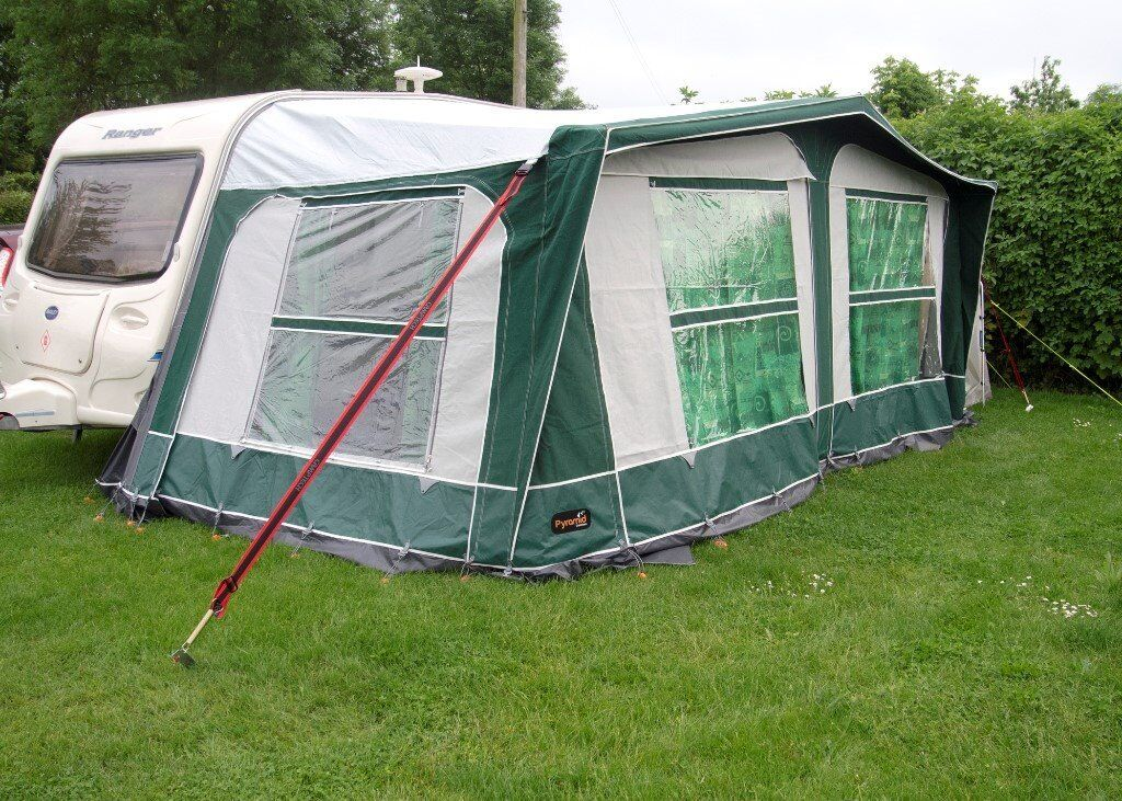 Pyramid Corsican 900 Awning + Universal Annexe + Tie Down ...