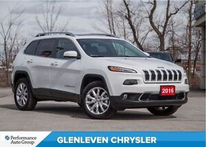 2016 Jeep Cherokee Limited | 4X4 | V6 | NAV | PANOROOF | LEATHER