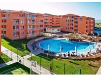 ROI-A studio apartment overlooking the pool for sale, in a residential complex nr Sunny Beach resort