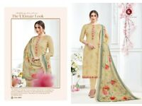 Kala Alia wholesale designer printed with embroidered suit