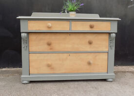 Painted Victorian Chest Of 2 Over 2 Drawers