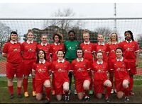 Friendly, successful women's football (ladies' soccer) team welcomes new players!