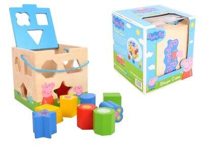 Peppa Pig Holzspielzeug Spielzeug Lernspielzeug Geometrische Holz Blöcke Puzzle