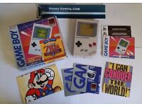 Boxed original Gameboy Console with original booklets and posters TESTED Retro gaming