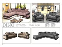 🚚HOME DELIVERY🚚 BRAND NEW DINO LEATHER JUMBO CORD IMPORTED SOFAS,