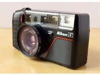 Nikon L35AF3 35mm film camera - fully working, lovely condition, f2.8 lens (like Olympus MJU ii)