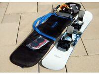 Snowboard kit: board, bag, FLOW bindings, crash pads and gloves ABSOLUTE BARGAIN