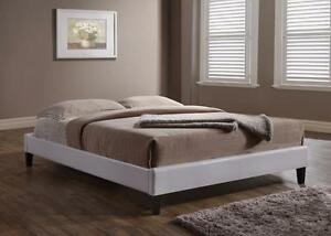 FREE Delivery in Nanaimo! White or Espresso Low Profile Leather Platform Bed!
