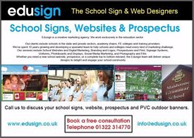 School websites and signs designed for schools and colleges