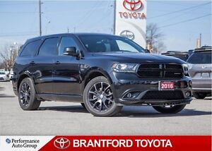 2016 Dodge Durango R/T, Black on Black Leather, Sunroof, Carproo