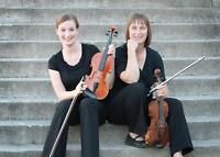 Two Violinists Available for Weddings and Celebrations