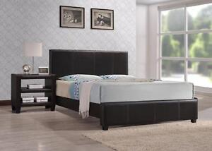 TODAY'S DEAL LEATHER LOOK BED FRAME FROM 139$ ONLY...