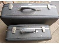 2 x Antler suitcases Genuine Vintage circa 1940