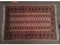 Antique handmade Afghanistan geometric wool rug