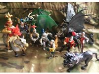 JOB LOT 11 ELEVEN GREAT SCHLEICH PAPO ELC RITTER KNIGHTS SOLDIERS CASTLE TROOPS MYTHICAL FANTASY