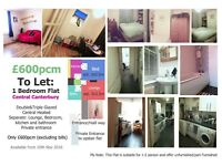 Agreed to let 27/10 : Cozy 1 Bedroom Flat/ Central Canterbury