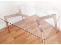 Modern Glass & Solid Wood Coffee Table FREE DELIVERY 293