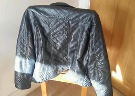 John Rocha Ladies Leather Jacket (size 16)
