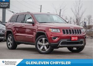 2015 Jeep Grand Cherokee Limited | NAV | 4X4 | 20 WHEELS | ROOF
