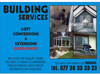 Conversions, Extensions, Plasterer, Tiling, Painting, Decorating, Kitchen & Bathroom Fitting