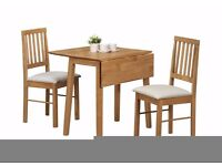 Drop leaf folding table and 4 chair
