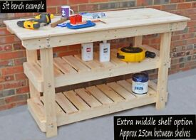 Wooden Workbenches | Worktables | For home and business | VERY STRONG WELL MADE