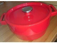 Pyrex Cast Iron Round Casserole Dish